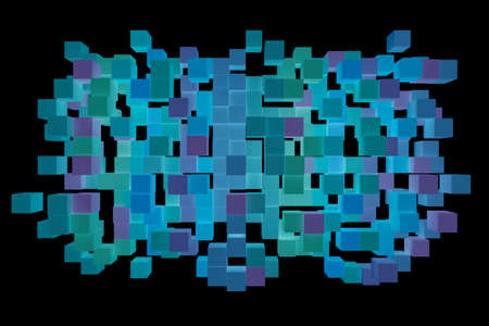 Abstract background from cubes, 3d illustration. 版權商用圖片