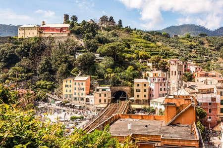 CinqueTerre, world cultural heritage on the Italian Mediterranean coast Stock Photo