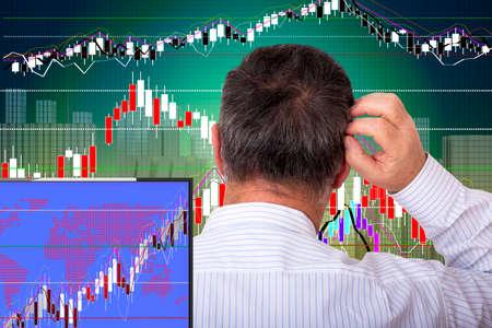 Dealer analyzes the chart