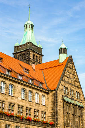 Town Hall of Chemnitz in Saxony Stock Photo