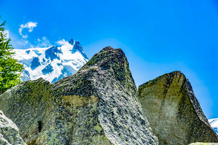 Mountain Mont Blanc Massif at Chamonix