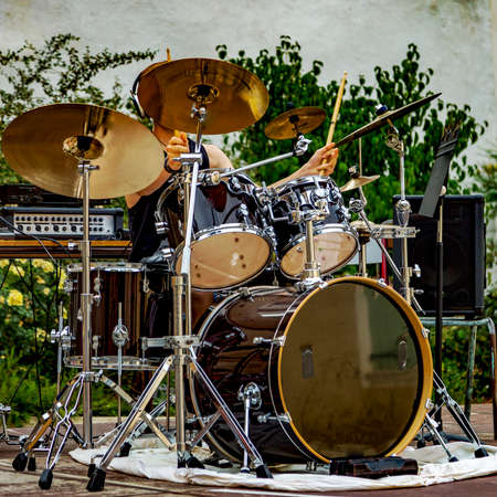 drums outdoors Stock Photo