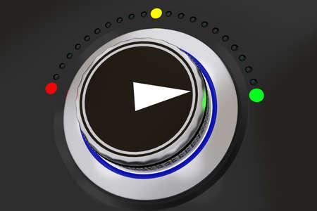 Botón giratorio con pantalla de botones de colores, ilustración 3D Foto de archivo - 87878715