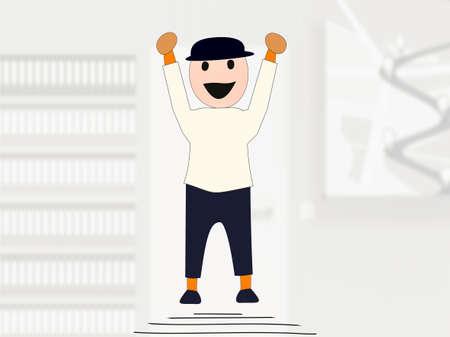 Figure with the joy jump, Illustration