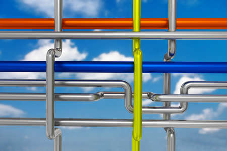 pipeline, 3D-Illustration