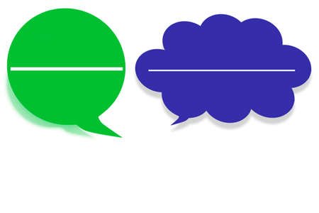 Speech bubbles, 3d illustration Stock Photo