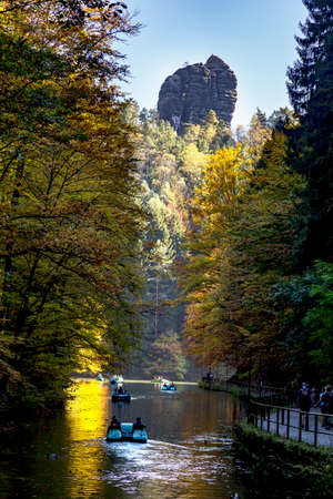 Amselsee in the Saxon Switzerland National Park Stock Photo