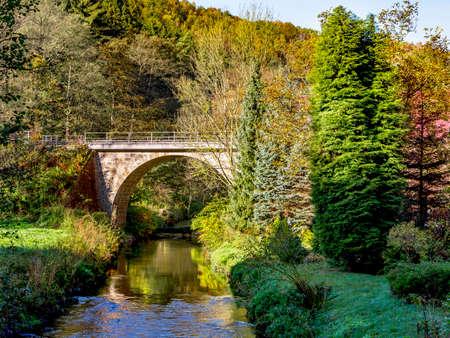 Bridge in the National Park Saxon Switzerland Stock Photo