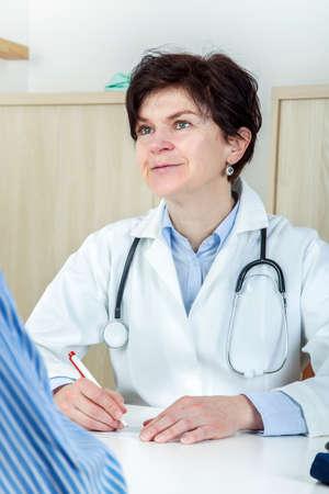 Doctor prescribes medication