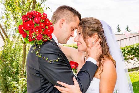 bride and groom 写真素材