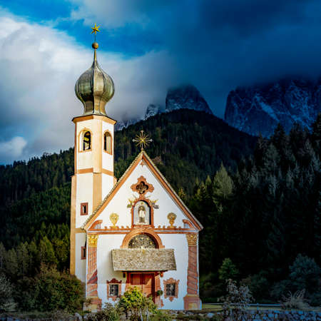 Church of St. Giovanni in Ranui, South Tyrol  Stock Photo