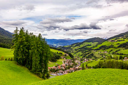 Valley Villnoess in South Tyrol  Stock Photo