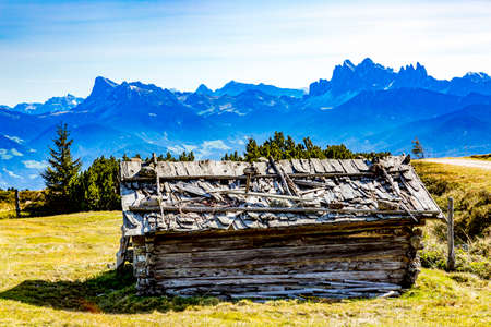 Woodshed on the Alm