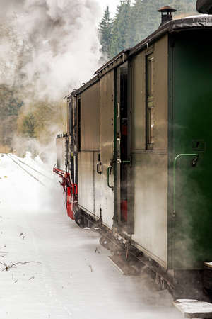 Nostalgia railroad in winter  Stock Photo