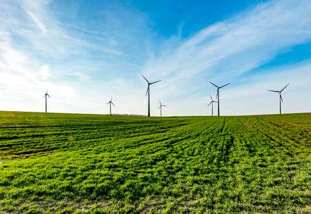 Landscape with wind turbines Archivio Fotografico