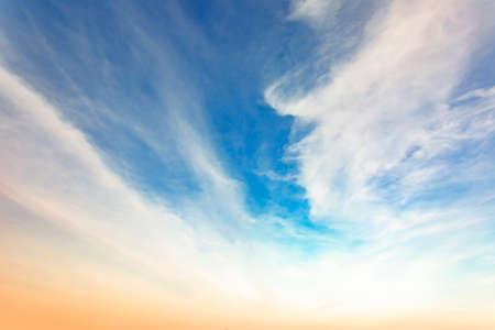 Veil clouds in the sky