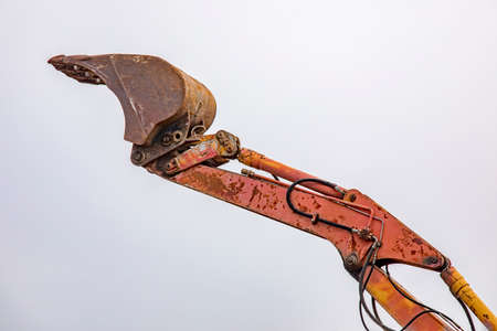 Excavator with shovel