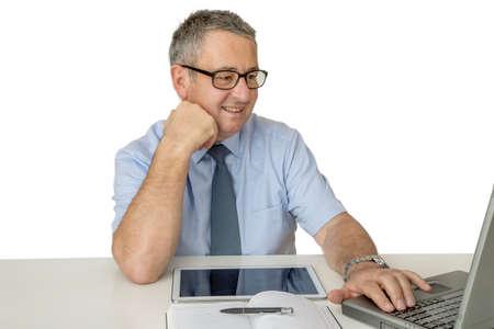 Businessman at the desk