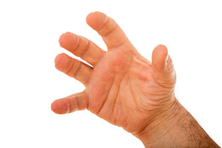Isolated male right hand