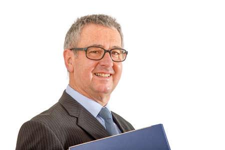 Man with file folder  Stock Photo