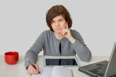 Woman at the desk