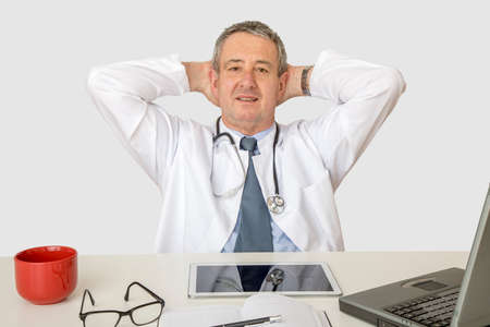 Doctor at the desk