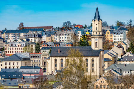City Markneukirchen in the Vogtland  Stock Photo