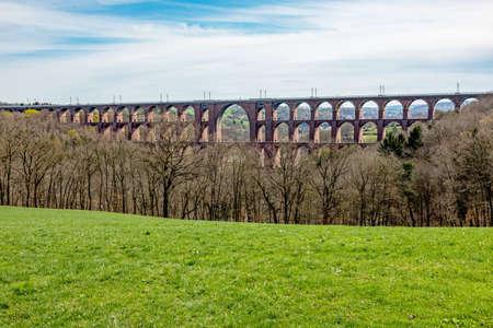 Goeltzschtal bridge from Mylau in the Vogtland Stock Photo
