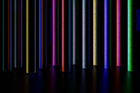 Colorful light columns, 3d illustration