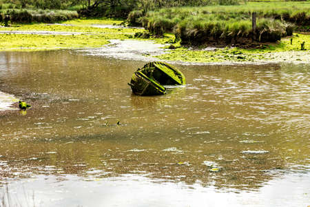 Old fishing boat crumbles