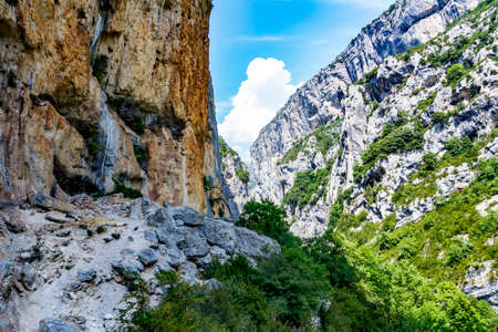 Grand Canyon in southern France Stock Photo