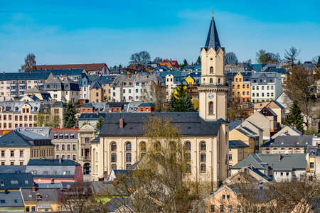 City Markneukirchen in the Vogtland Stock Photo