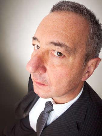 Wide angle portrait of a man 版權商用圖片