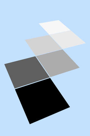 Squares from white to black