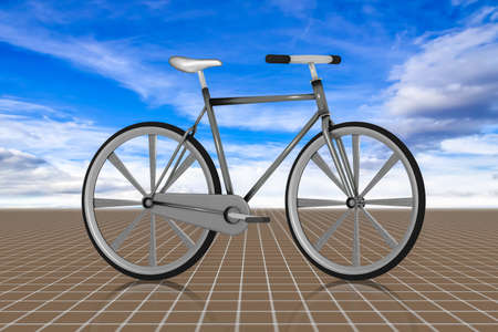 Modern bicycle, 3d illustration