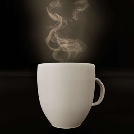 Cup with steam, 3d illustration Stock Photo