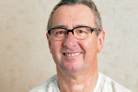 Portrait of a senior man with glasses Stock Photo