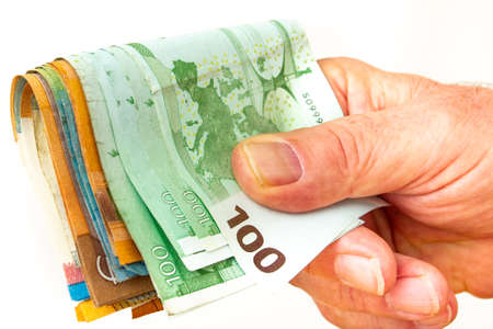 Hand with banknotes