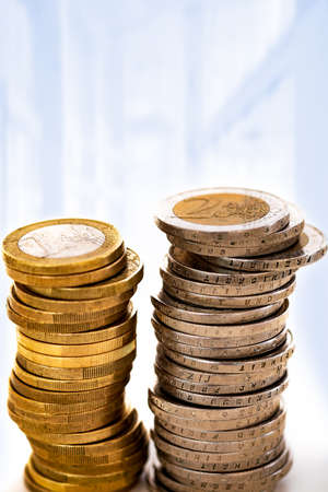 Stacked money coins Stock Photo