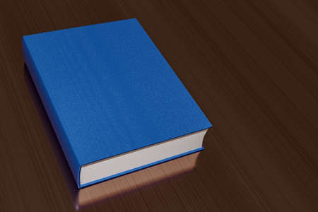 Blue book without lettering, 3D illustration