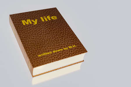Book with caption, my life, 3d illustration 스톡 콘텐츠