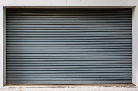panelling: Background Detail of texture metal door Corrugated Iron Panelling with white frame