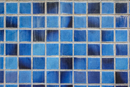 ���wall tiles���: blue ceramic wall tiles and details of surface