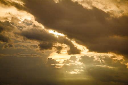 Sky at sunset ,background Banco de Imagens