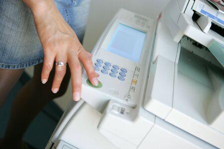 fotocopiadora: copia en la impresora de fotos Foto de archivo