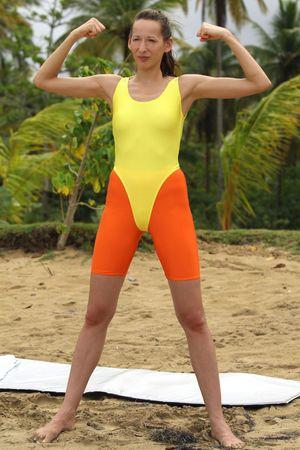 lycra: Aerobic on the beach