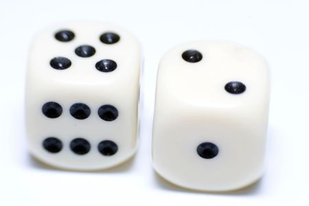 A pair of white dice Stock Photo - 3087575
