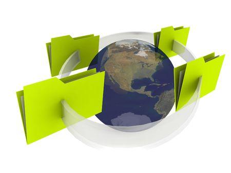 globus: illustration of a internet communication