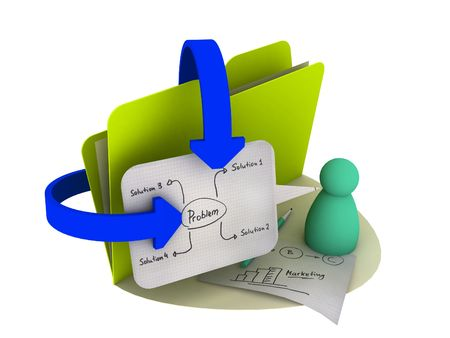 project icon with mind map on the sheet Stock Photo - 5060653
