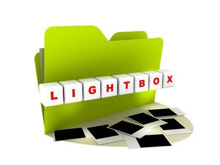 lightbox: lightbox icon Stock Photo